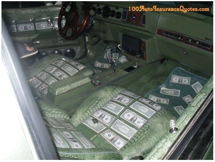 car full of money