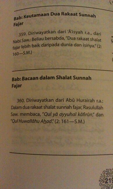 Shalat sunnah Fajar