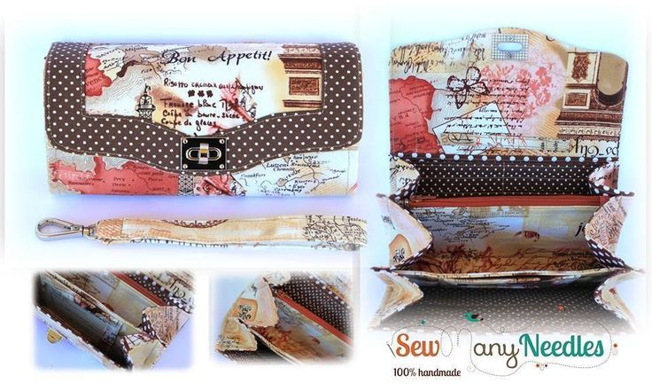 Handmade by Sew Many Needles Necessary Clutch Wallet