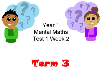10 Fun Mental Maths Questions For Year 1 (Year 1 Block 3 Mental Maths Test 1) from BritishTimetoteach from BritishTimetoteach on TeachersNotebook.com (15 pages)  - Year 1 Block 3 Mental Maths Test 1 is ideal for Visual Learners and ESL students. The students can see and read the 10 mental maths questions as their teacher reads them.
