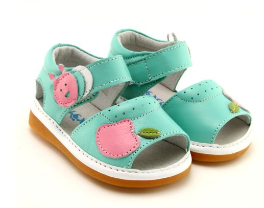 Apple - Little Kids Summer Shoes | Anatomically designed quality leather sandals for little girls | Unique colour