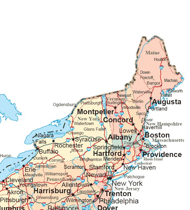 Best New York Boston And Maine Images On Pinterest Boston - Us map boston new york