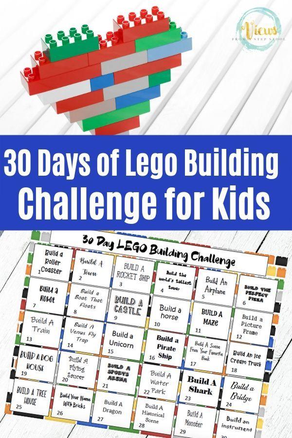 30 Day Lego Challenge For Kids Printable Calendar Lego
