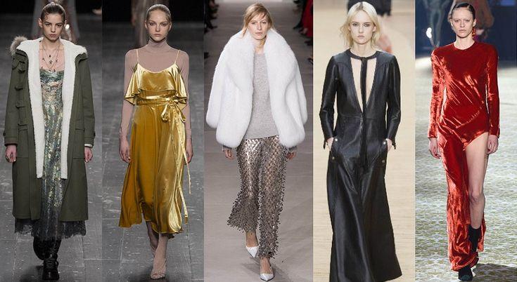 индивидуальность в стиле  Классическому типажу стоит попробовать насыщенные оттенки, особенно в бархатных нарядах, вещи из гладкой кожи, вечерние образы в стиле Голливуда и женственный военный стиль.