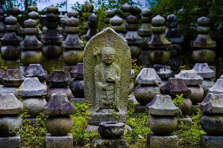 Jizou a stone Buddha in Gangoji temple in Nara by NaokiTakei