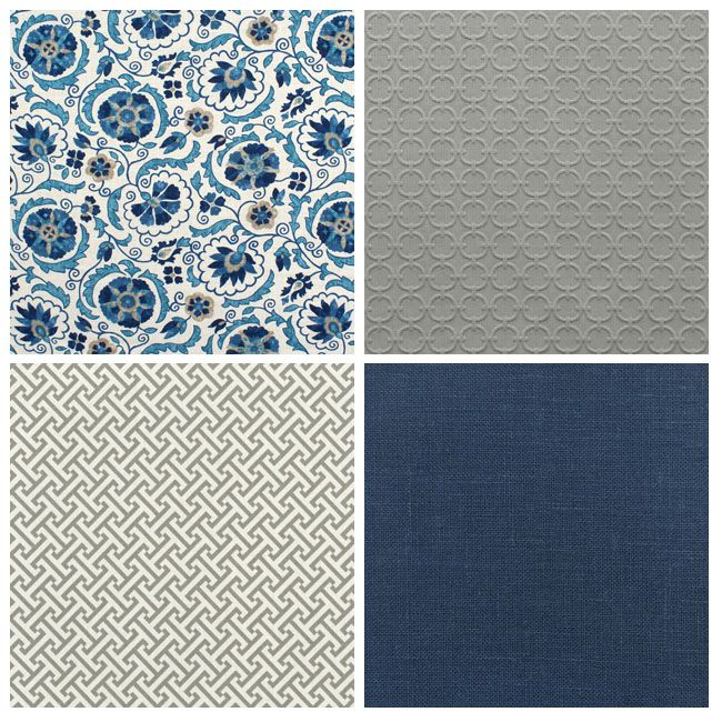 Blue/Greige Fabric Combos
