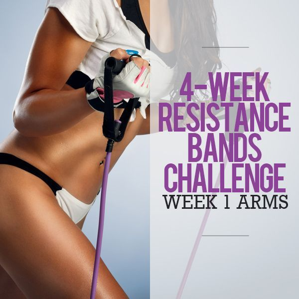 Start this 4 Week Resistance Bands Challenge!  Week 1 - Arms!  #resistancebands #arms #workout
