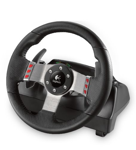 Logitech's gaming wheel with dual-motor force feedback & a six-speed shifter make the world's greatest circuits feel closer than ever.