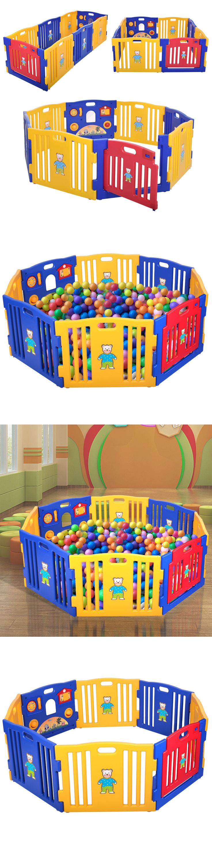 Baby Gear 100223: New Baby Playpen Kids 8 Panel Safety Play Center Yard Home Indoor Outdoor Pen -> BUY IT NOW ONLY: $84.99 on eBay!