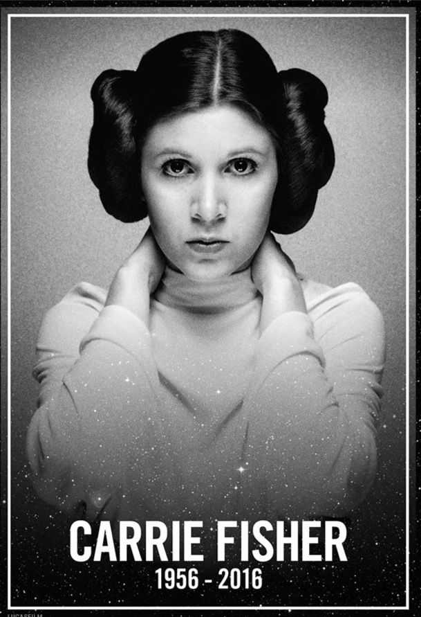 God, why? This is a sad day for all Star-Wars-Fans. Now, the force will keep her in peace...