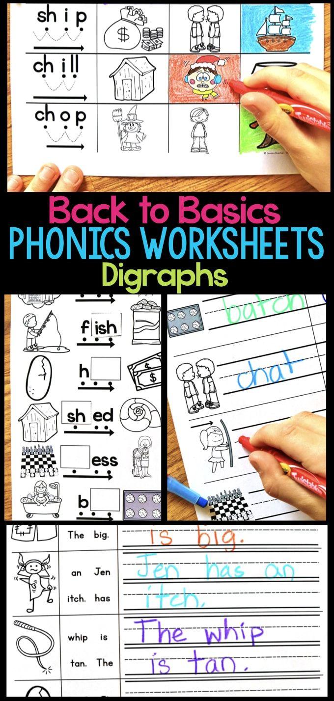 Digraph Phonics Worksheets Activities For Elementary Students Phonics Worksheets Phonics Digraph [ 1428 x 680 Pixel ]