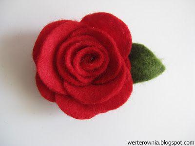czerwona róża z filcu DIY, krok po kroku #werterownia