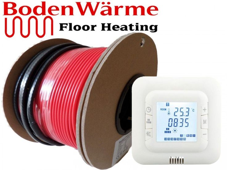 Electric Underfloor Heating Cable + Digital Thermostat