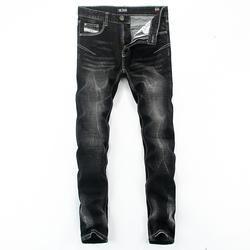 GRID Men's Straight Leg Black Jeans