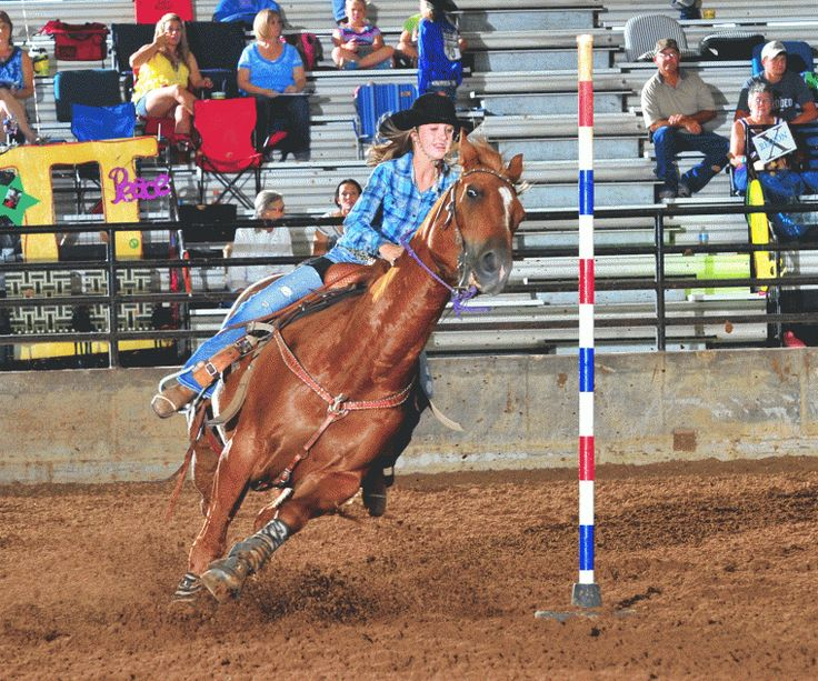 McKenzie Caldwell finishes pole bending competition - Gonzales ...