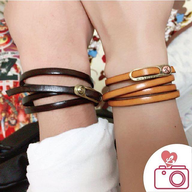 《品番》#klb003  #ペアアクセサリー #ペア #アクセサリー #アクセサリーショップ #ペアルック #ペアブレスレット #カップル #プレゼント #おそろい #記念日 #誕生日 #革婚式 #レザー #love #birthday #anniversary #accessories #lauss #flollwme #happy #style #couple #gift #leather #onlineshop #japan