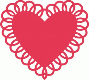 Silhouette Online Store - View Design #38677: heart doily