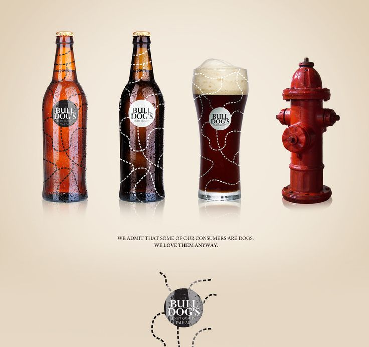Bull dogs beer brand concept and packaging design