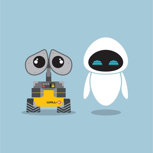 Wall-E and Eve Art Print by Steph Dillon | Society6