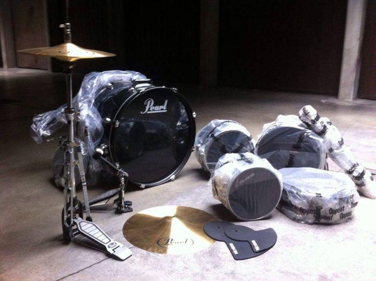 Batteria acustica Pearl Target Series - Kit completo