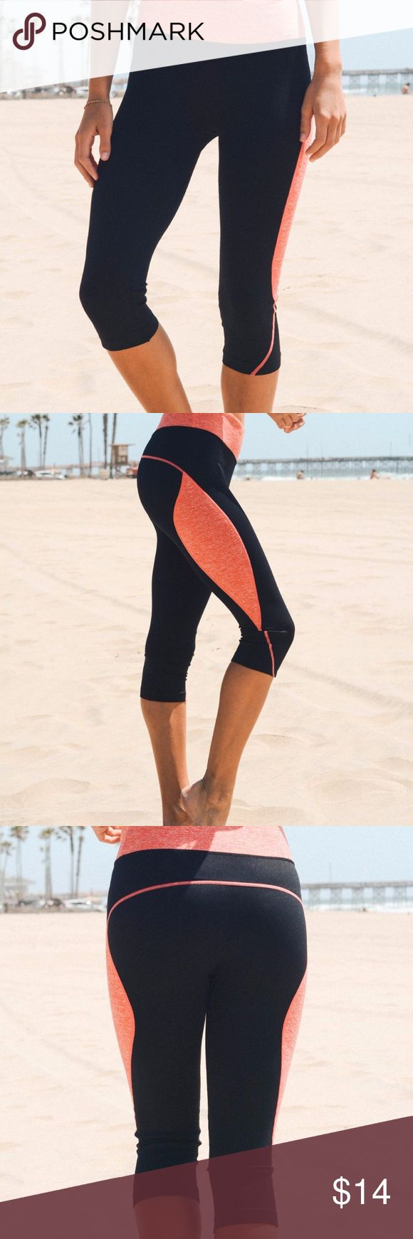 """Women's Black Coral Variegated Band Leggings These clean-cut leggings flaunt a statement waistband for standout style and patterned pop. Infused with stretch, they are a comfortable pick for your active-to-casual ensembles. 36"""" - 37"""" waist / 38"""" - 39"""" hips / fits size 8-10 78% nylon / 14% polyester / 8% spandex Machine wash Leto Collection Pants Track Pants & Joggers"""