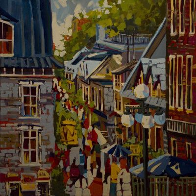 The artistic works of Rick Bond at the Shayne Gallery. Many acrylic on canvas paintings.