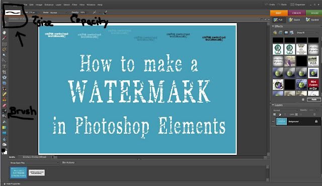 Watermark How-To, with Photoshop Elements