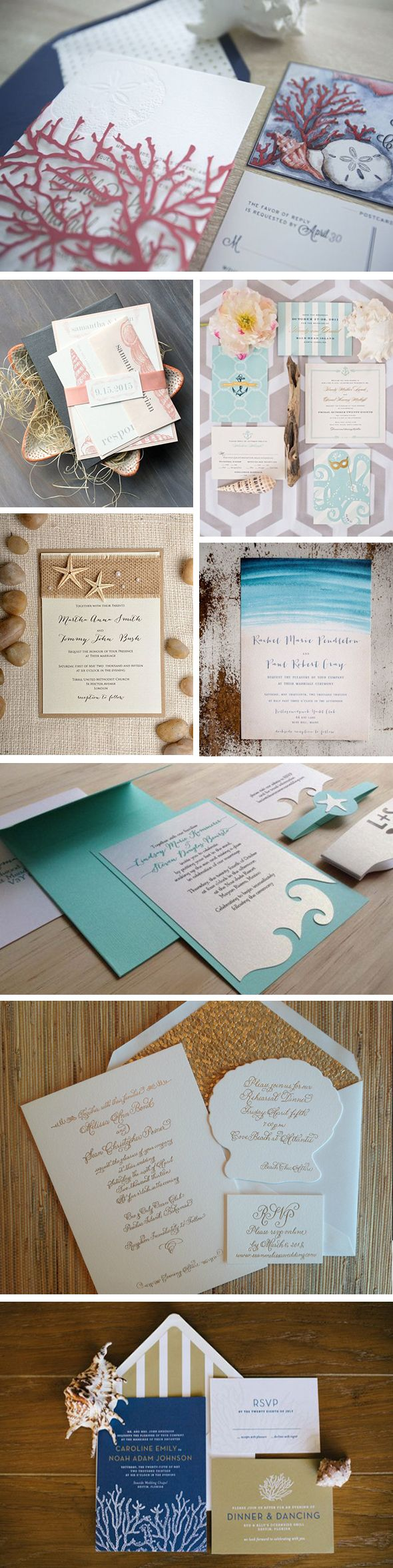 beach wedding invitation examples%0A Beach and Sea Inspired Wedding Invitations