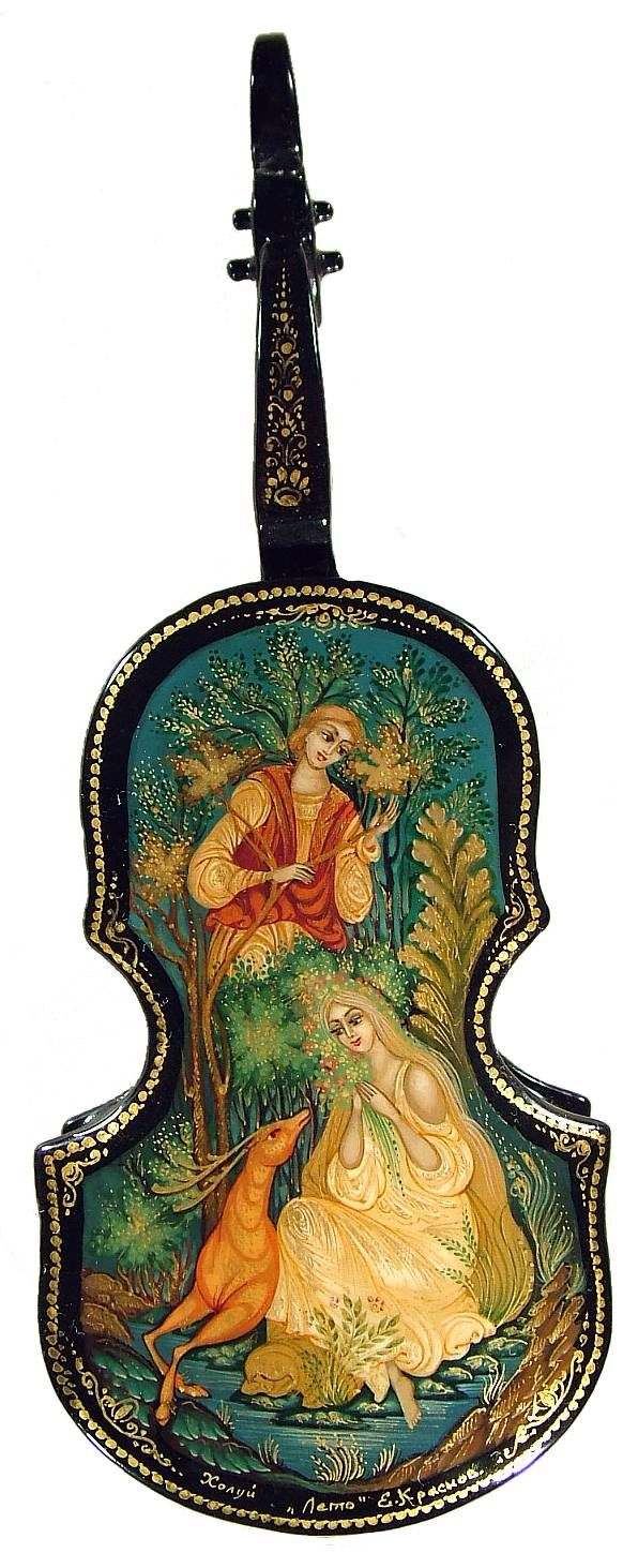 Music must be played on New Years...this is a fabulous lacquer violin.