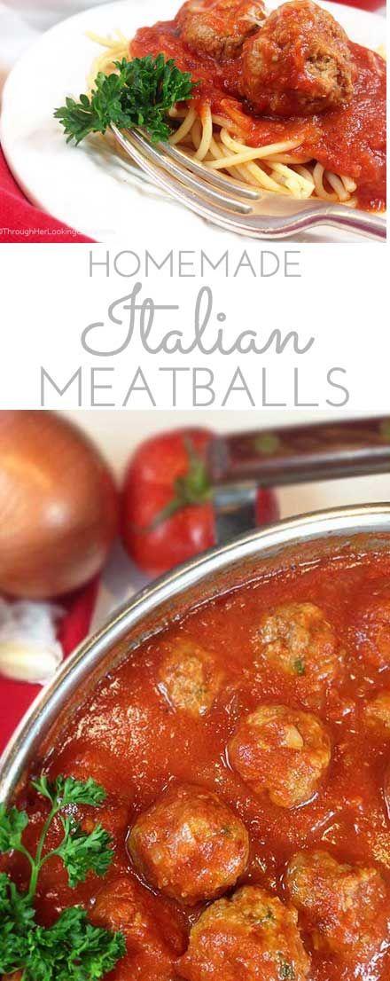 Homemade Italian Meatballs & Sauce. Fresh wholesome ingredients: garlic, fresh parsley, Italian bread crumbs and freshly grated parmesan. Mangi!