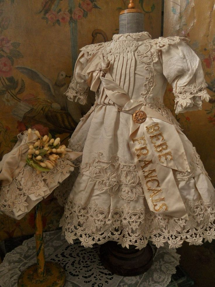 ~~~ Gorgeous French Silk BeBe Costume with Bonnet ~~~ from whendreamscometrue on Ruby Lane