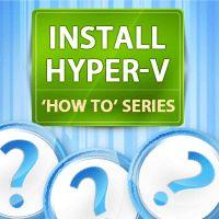 How To Install Hyper-V R2