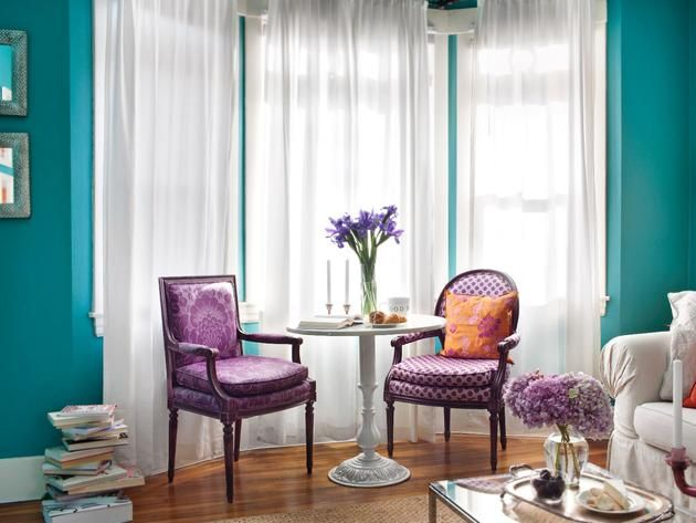 Surprising Purple Curtains Living Room Walls