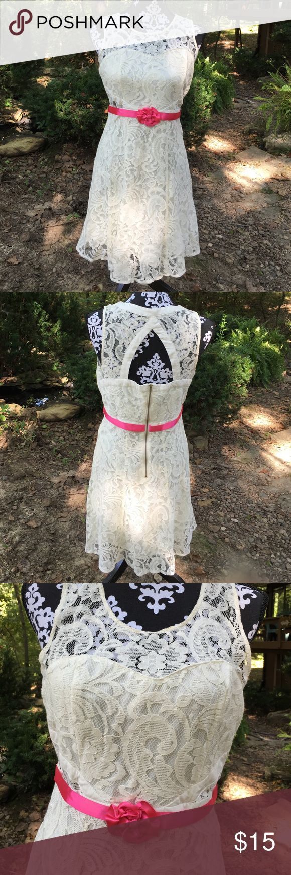 American Rag Lace Dress. Size Medium American Rag Lace Dress. Size Medium. Off white. American Rag Dresses Midi