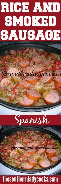 Try this great Spanish rice and smoked sausage skillet meal anytime for comfort food at it's best.  Serve this Spanish rice and smoked sausage with cornbread muffins for a meal your family will love it! You …