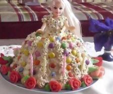 Recept Ořechový dort panenka Barbie od lussy - Recept z kategorie Dezerty a sladkosti