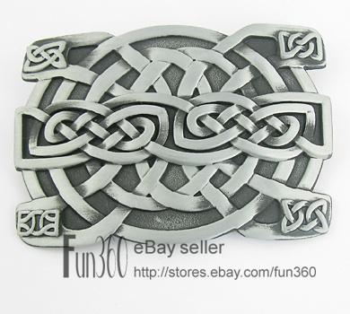 Western Gothic Celtic Weave Celt Knot Irish Metal Belt Buckle Mens $4.69