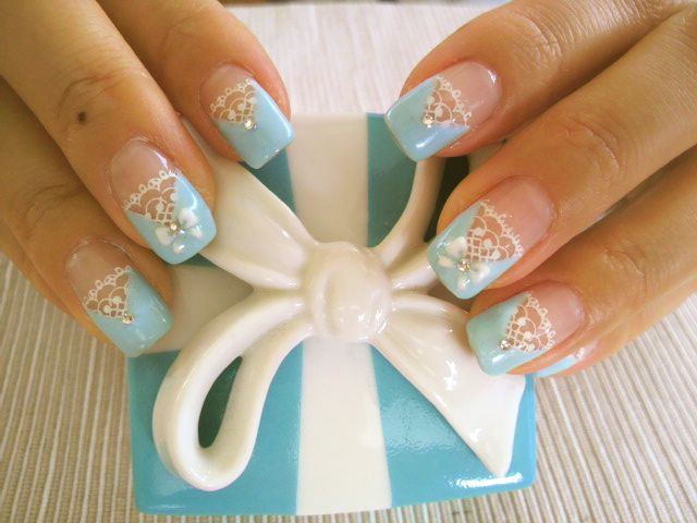 Best 25 tiffany nails ideas on pinterest tiffany blue nails tiffany nails see more ooooo these would be lovely for a wedding got your something blue prinsesfo Gallery