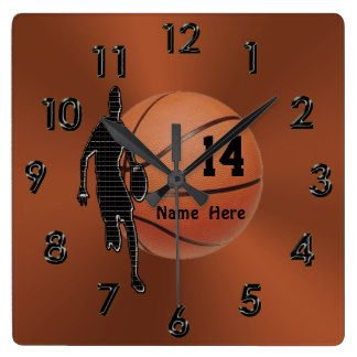 Basketball Wall Clocks | Zazzle