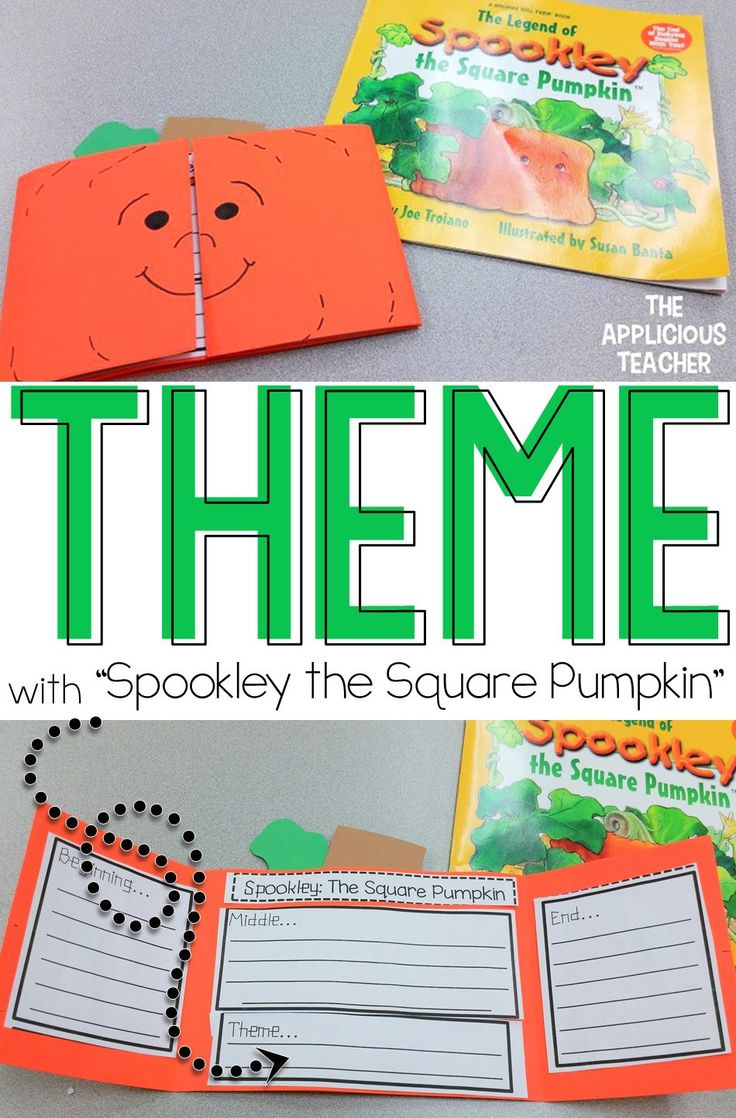 helping students understand themes in stories using the classic halloween story spookley the square pumpkin - Story About Halloween
