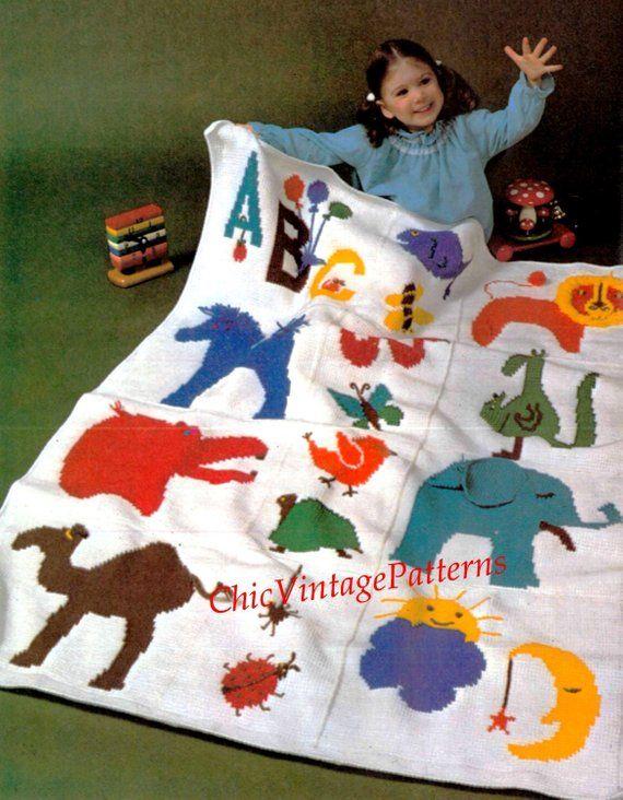 Afghan Rug Pattern Childrens Zoo Rug Pdf Crochet Pattern Stunning Zoo Cot Rug Throw Or Afghan Instant Download Rug Pattern Crochet Patterns Afghan Rugs
