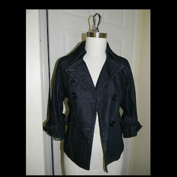 Denim jacket Belted denim jacket. Very chic. The hanger does this jacket no justice. Pairs well with skirts and dresses. BCBGMaxAzria Jackets & Coats Jean Jackets