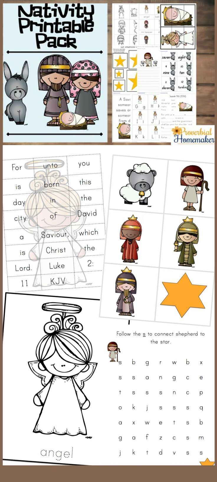 Download this fun nativity printable pack for great Christmas learning activities and a focus on Jesus! via @TaunaM