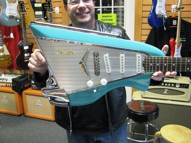 American Showster 57 Chevy Guitar Oddities Amp Rareties