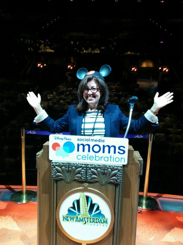 """My two seconds on a Broadway stage in complete bliss for having the opportunity to attend the Disney Social Media Moms Celebration """"On-The-Road"""" New York City 2015 #DisneySocialMMC"""