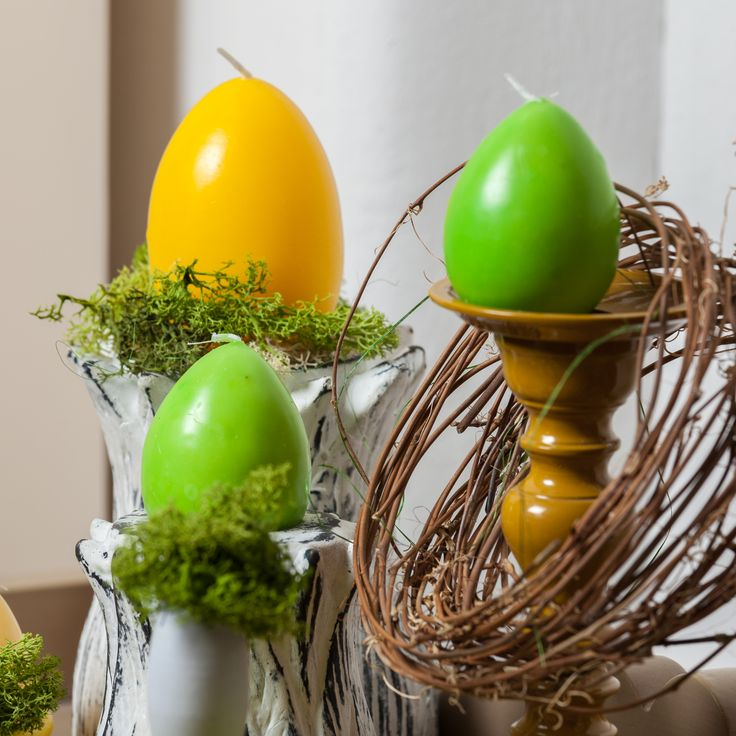 Bright Colored Egg Candles for Easter - available NOW - Seasonal Decorations, Ideas, Moments