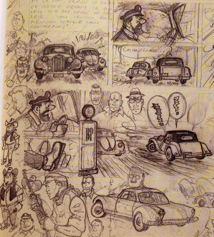 Alfius De Bux | Hergé. Sketches for abandoned Tintin Project,...