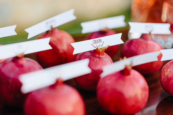 Beautiful pomegranate wedding inspiration - Love4Weddings
