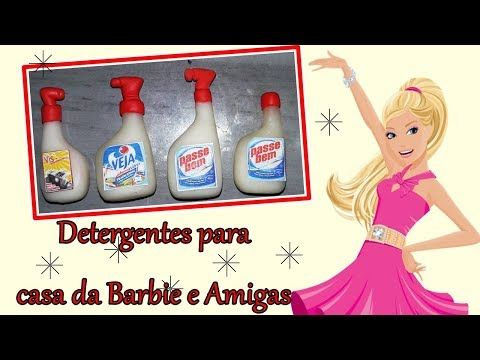 #CozinhadaBarbie Detergentes para casa da Barbie e amigas - YouTube