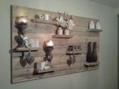 Wandbord hout interieur Definately wanna make this one #diy #doehetzelf #zelfmaken